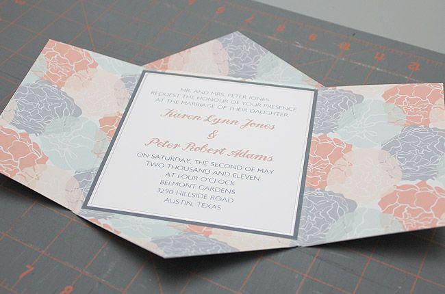 Speckled Paper Printable Paper Invitation