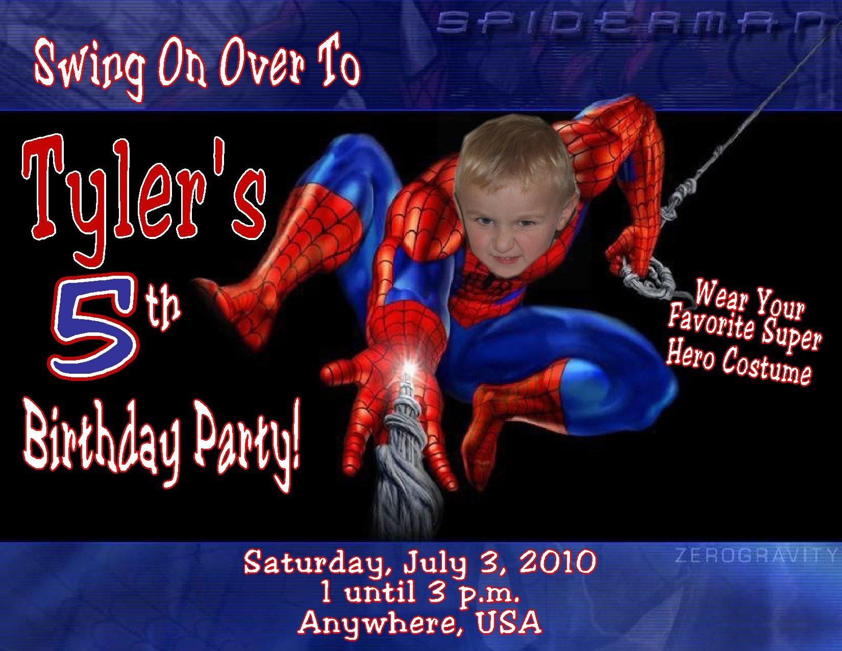 Spider-man Birthday Party Invitation Templates