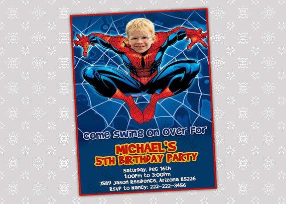 Spider-man Blank Invitations