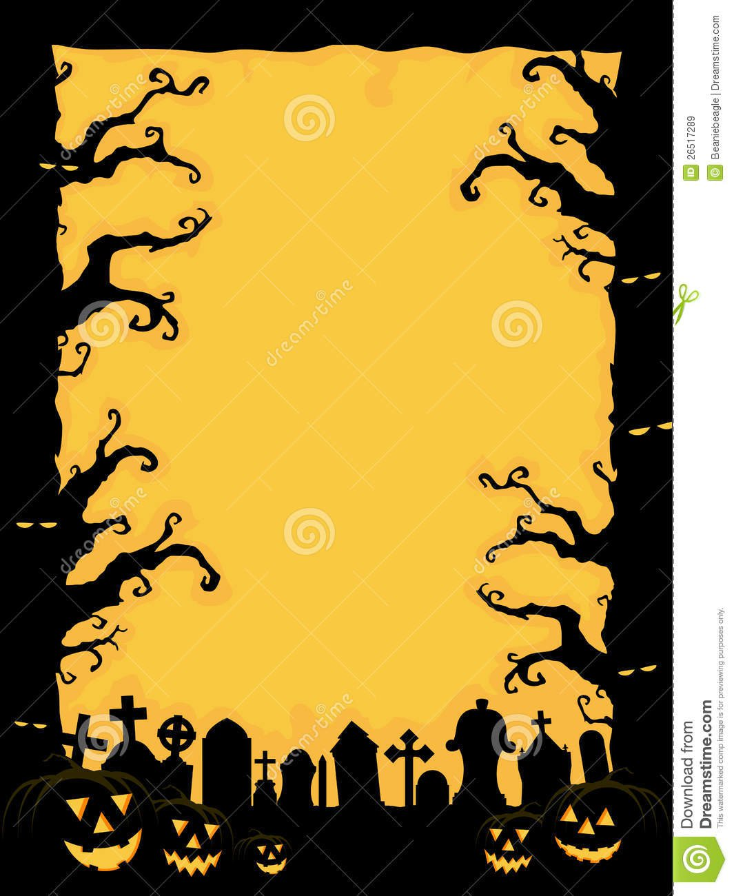 Scary Halloween Invitation Templates
