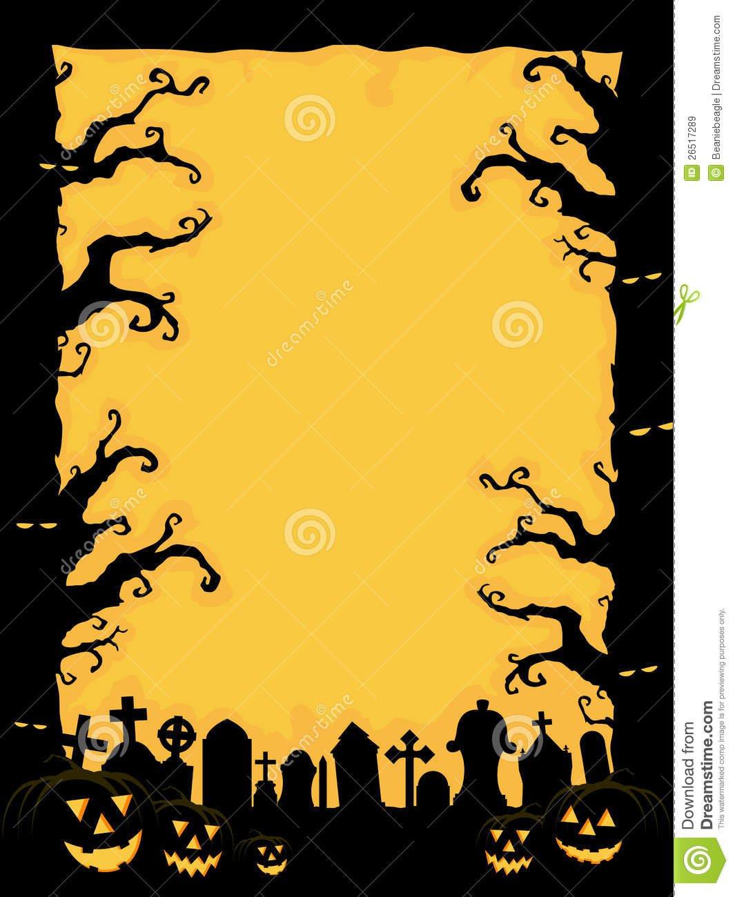 Spooky Halloween Invitation Template