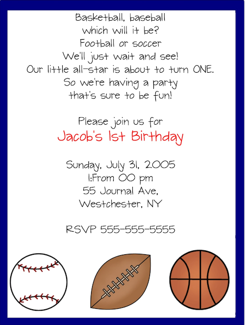Sport Party Invitation Templates