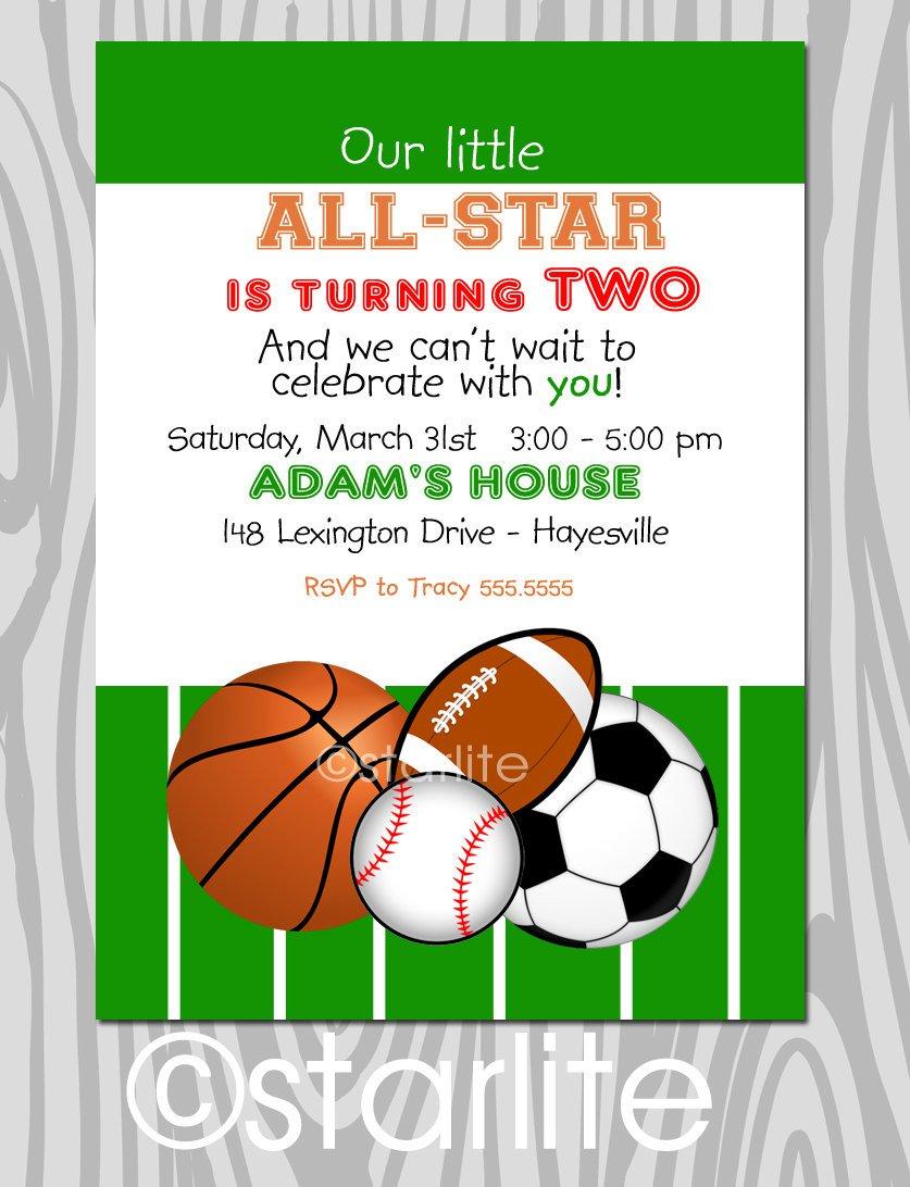 Sports Birthday Invitation Wording