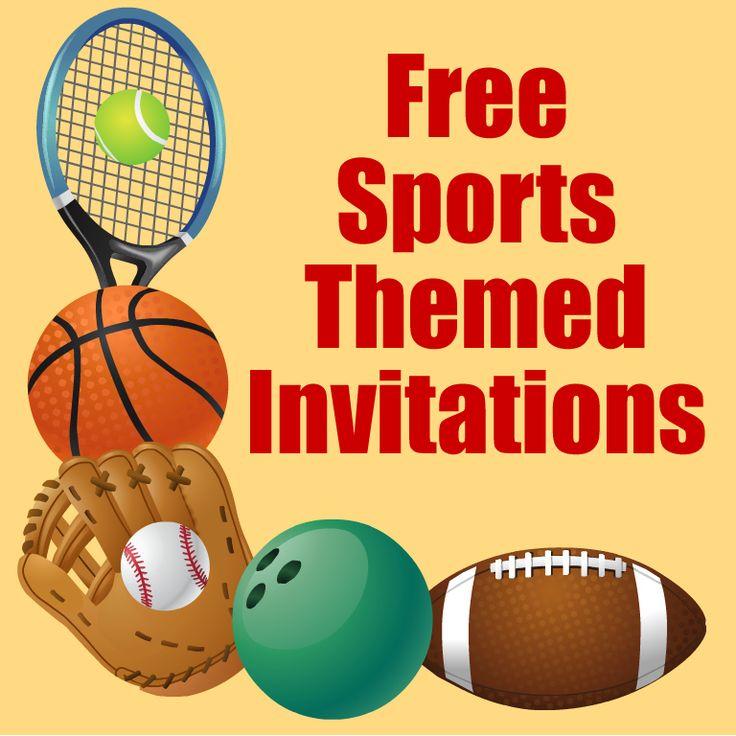 Sports Party Boys Birthday Invitation Templates