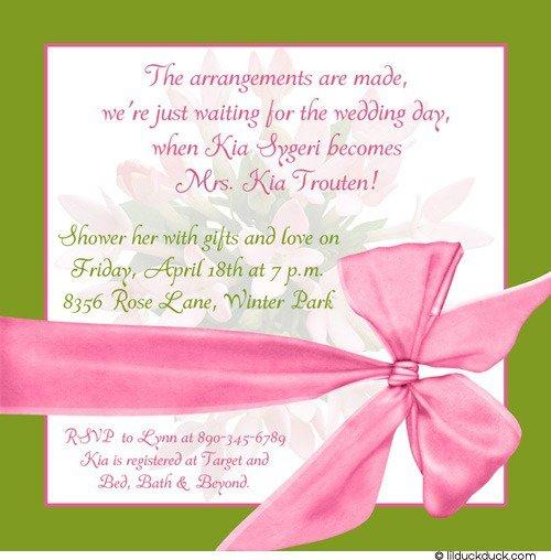 Spring Bridal Shower Invitation Wording