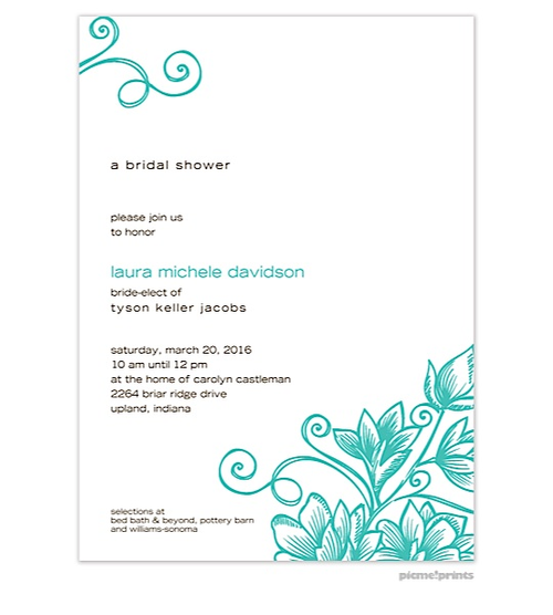 Spring Tea Party Invitations