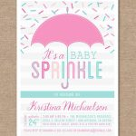 Sprinkle Shower Invitations Girl