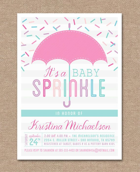 Sprinkle Shower Invitations Girl