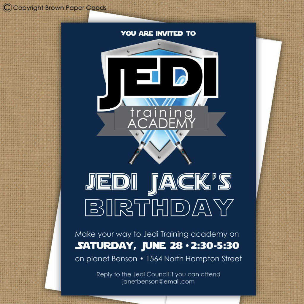 Star Wars Invitations Printable Free