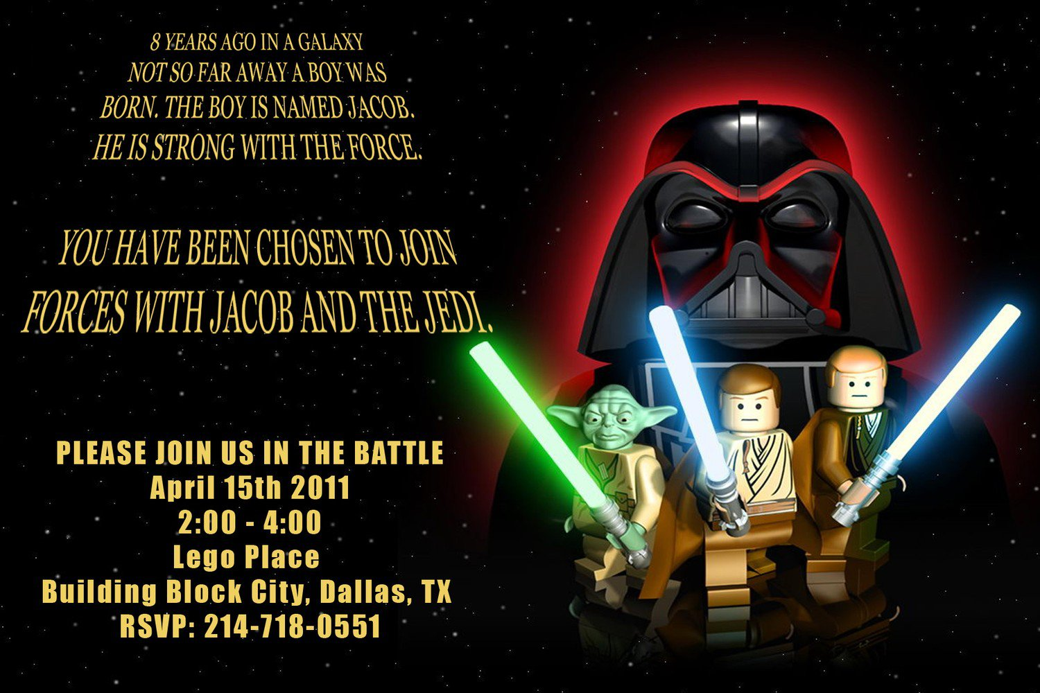 Star Wars Lego Invitations Printable Free