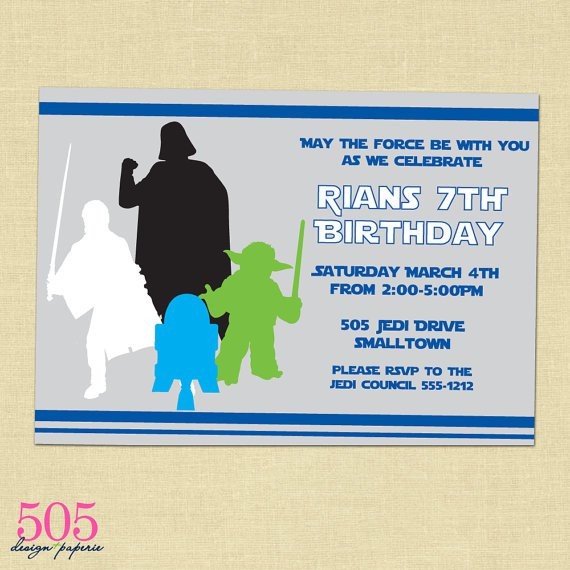 Star Wars Party Invitations Printable
