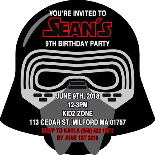 Star Wars Personalized Birthday Invitations
