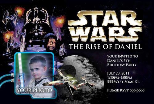 Star Wars Printable Invitations Birthday