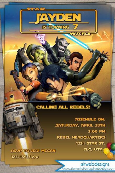 Star Wars Rebels Printable Invitations