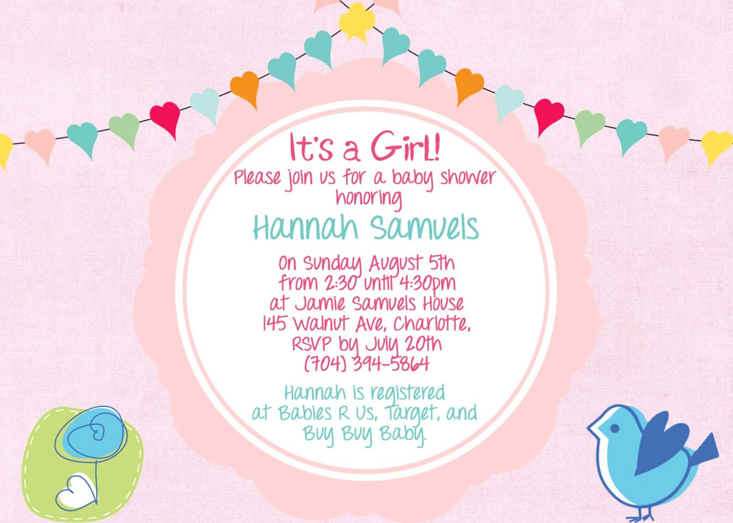 Suggested Wording For Baby Shower Invitations