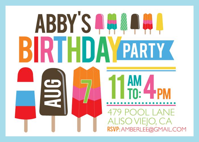 Summer Birthday Party Invitations Free