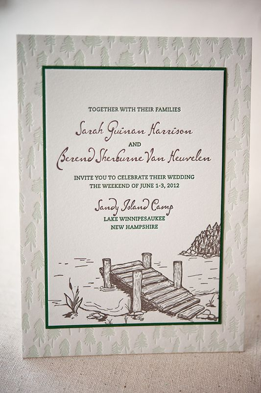 Summer Camp Wedding Invitations