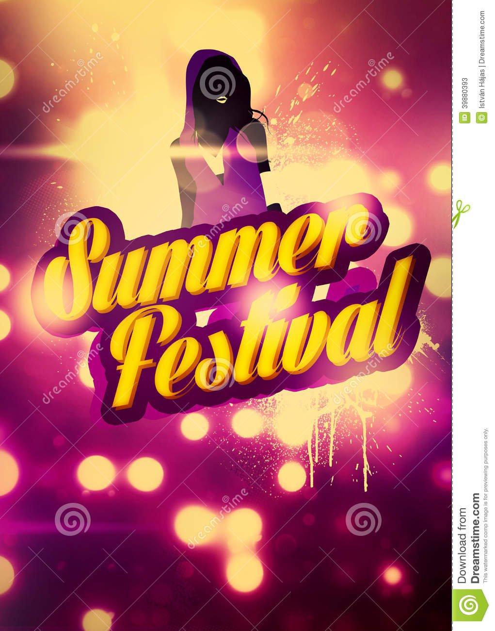 Summer Invitation Background