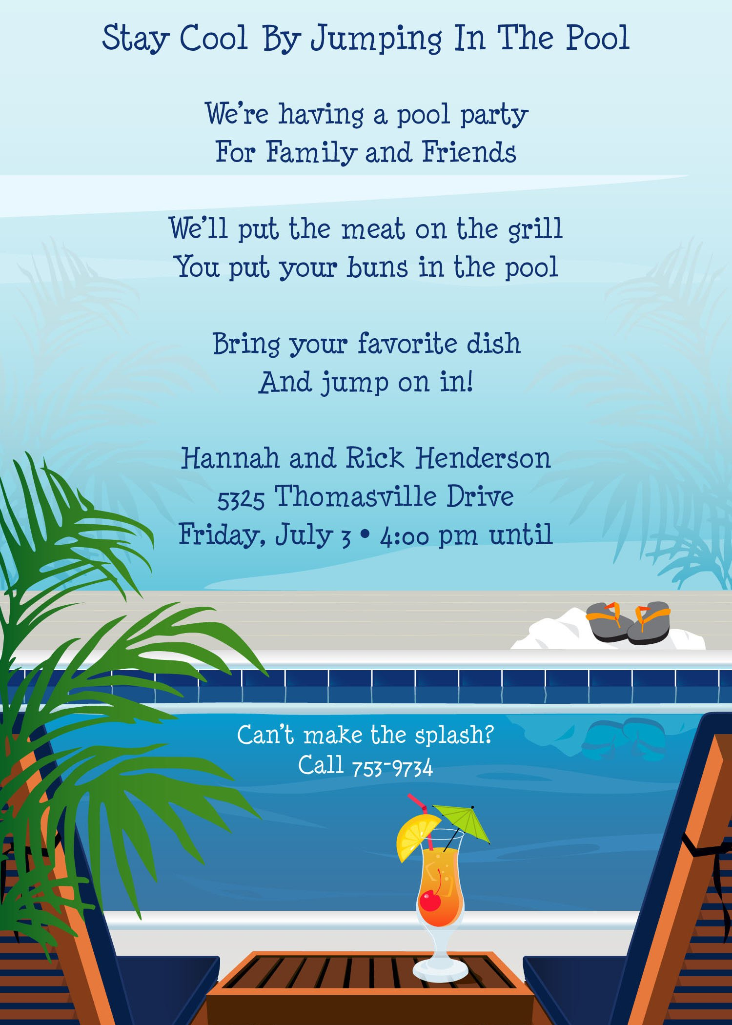 Summer Office Party Invitation Wording