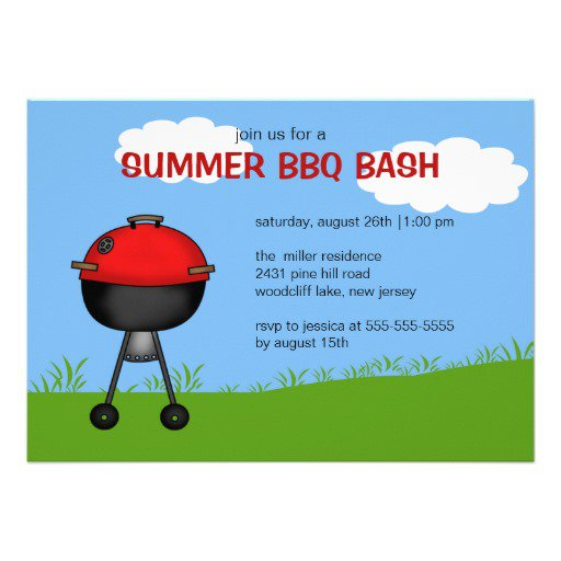 Summer Party Invitation Background