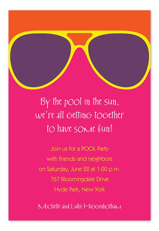Summer Party Invitation Blank