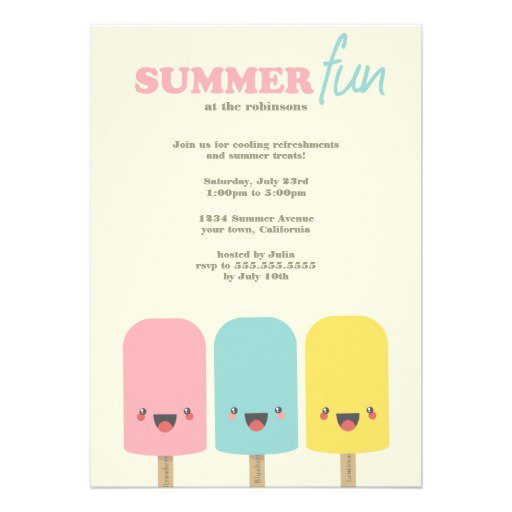 Summer Party Invitations Ideas