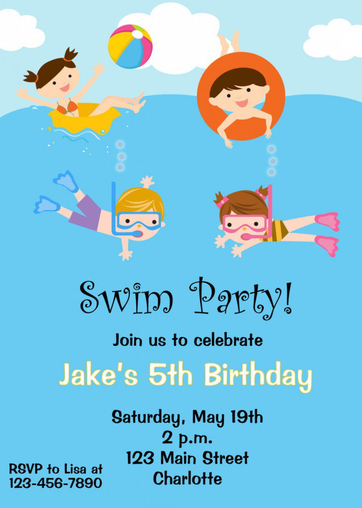 Summer Party Invitations Templates