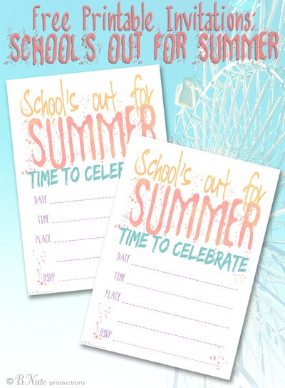 Summer Party Printable Invitations