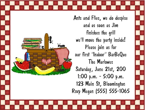 Summer Picnic Invitation Wording