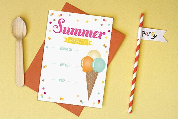 Summer Potluck Invitation Templates