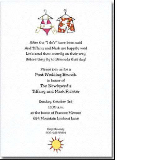 Sunday Brunch Invitation Wording