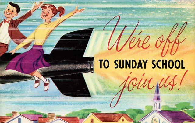 Sunday School Postcards Printable Invitations