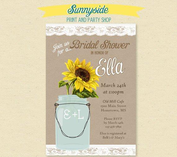 Sunflower Country Bridal Shower Invitation