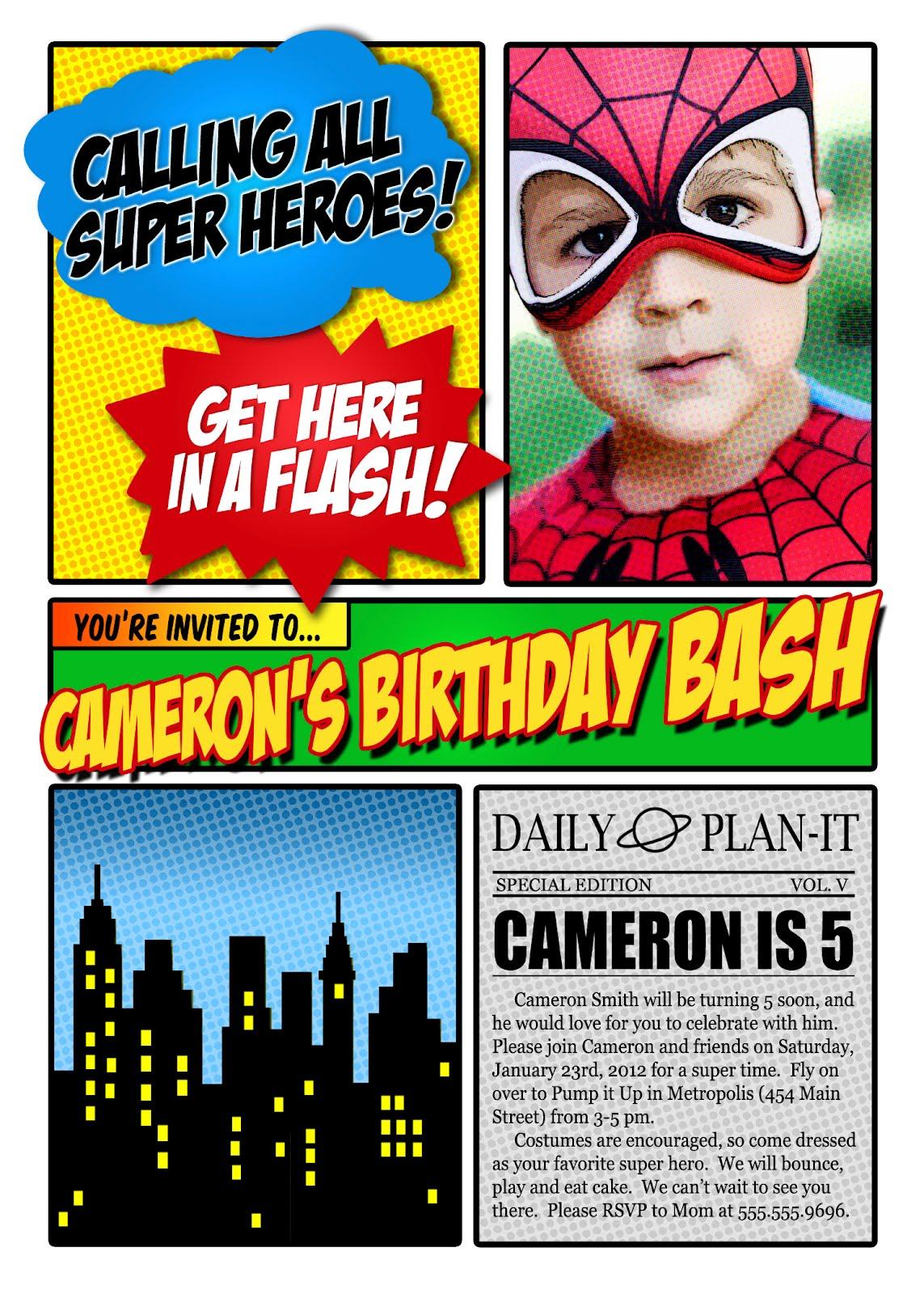 Superhero Invitation Maker