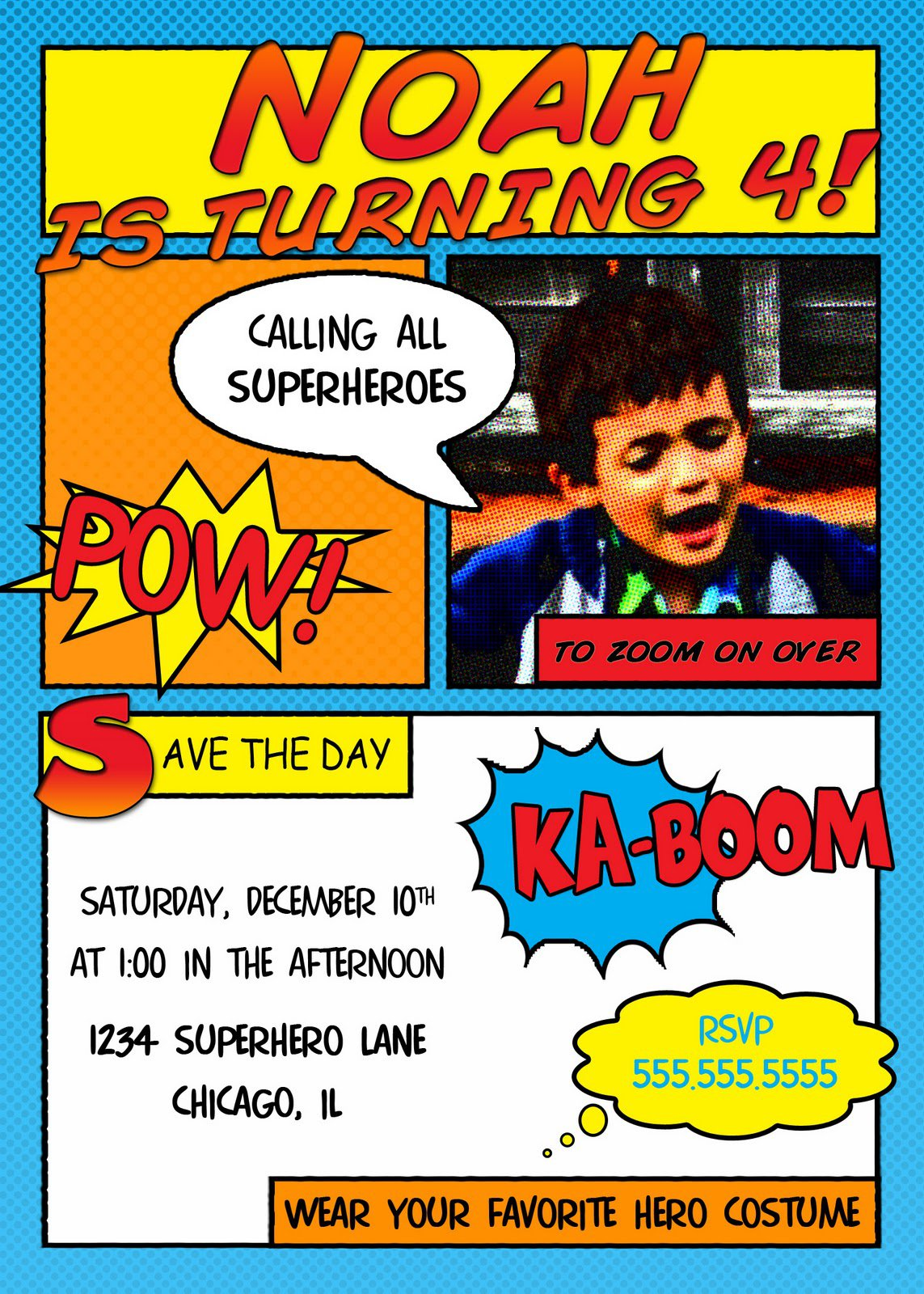 Superhero Invitation Templates