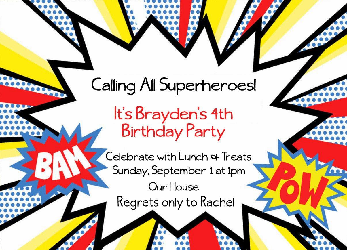 Superhero Invitation Templates Free