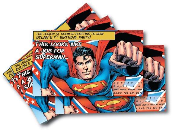 Superman Birthday Invitation Downloadable
