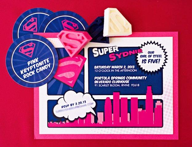 Superman Birthday Invitation Maker