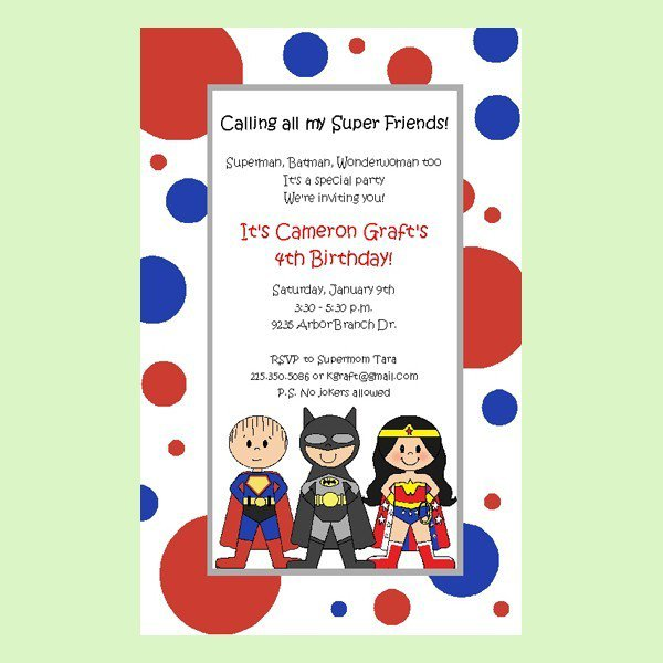Superman Birthday Invitation Template Free
