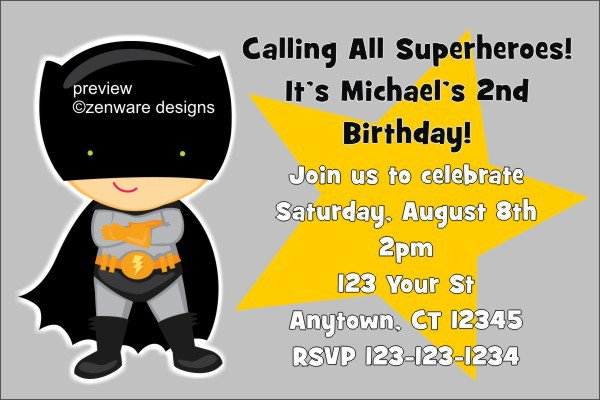 Superman Birthday Invitation Templates