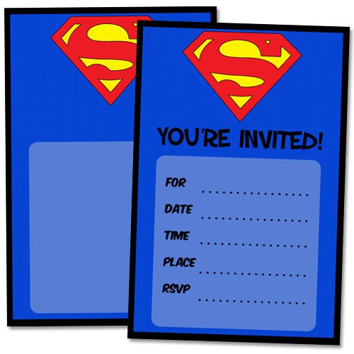 Superman Birthday Invitations Printable Free
