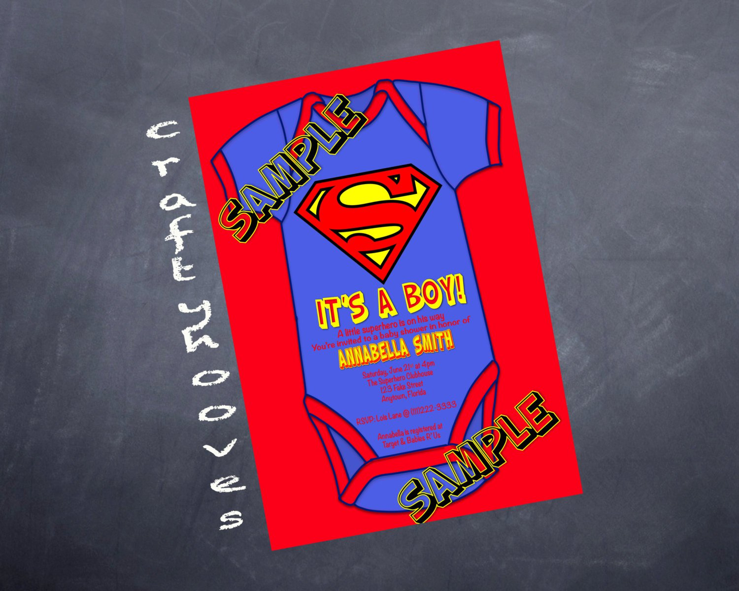 Superman Invitations For Baby Shower