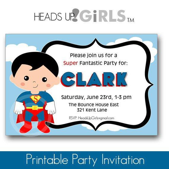Superman Personalized Invitations