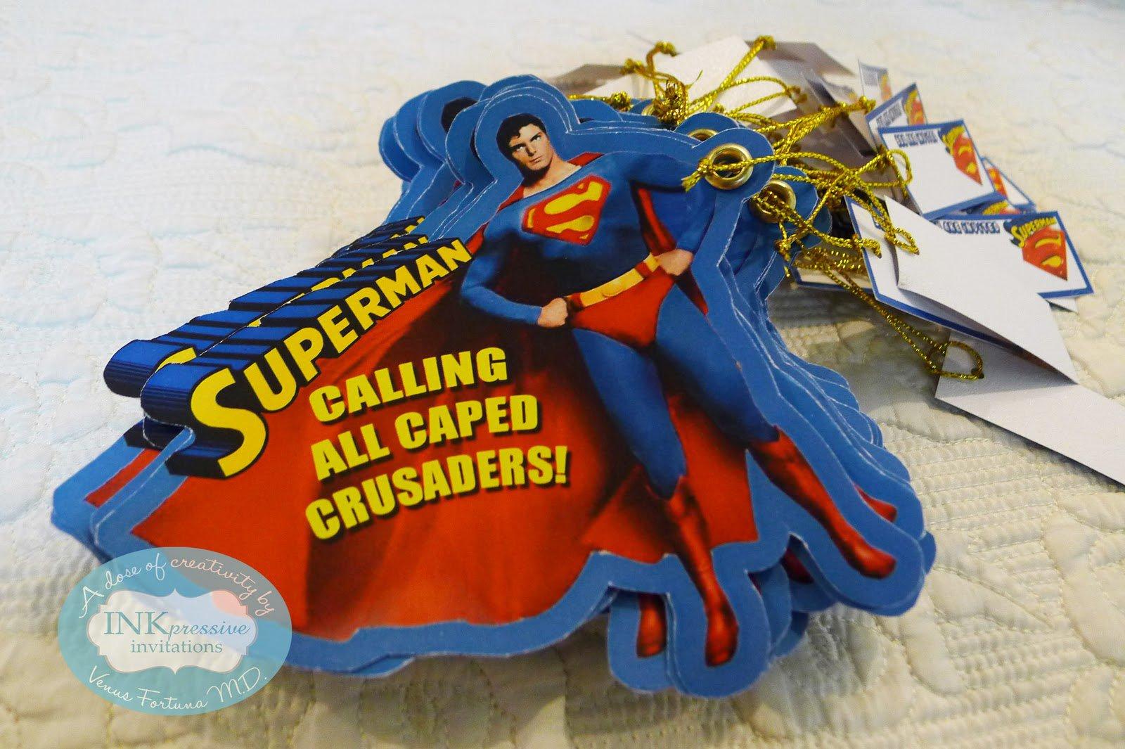 Superman Themed Wedding Invitations