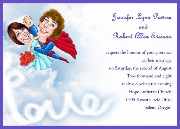 Superman Wedding Invitations Uk