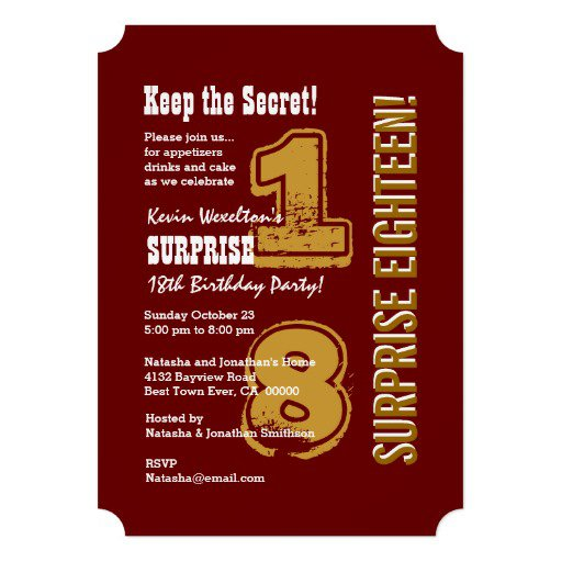 Surprise 13th Birthday Invitation Wording