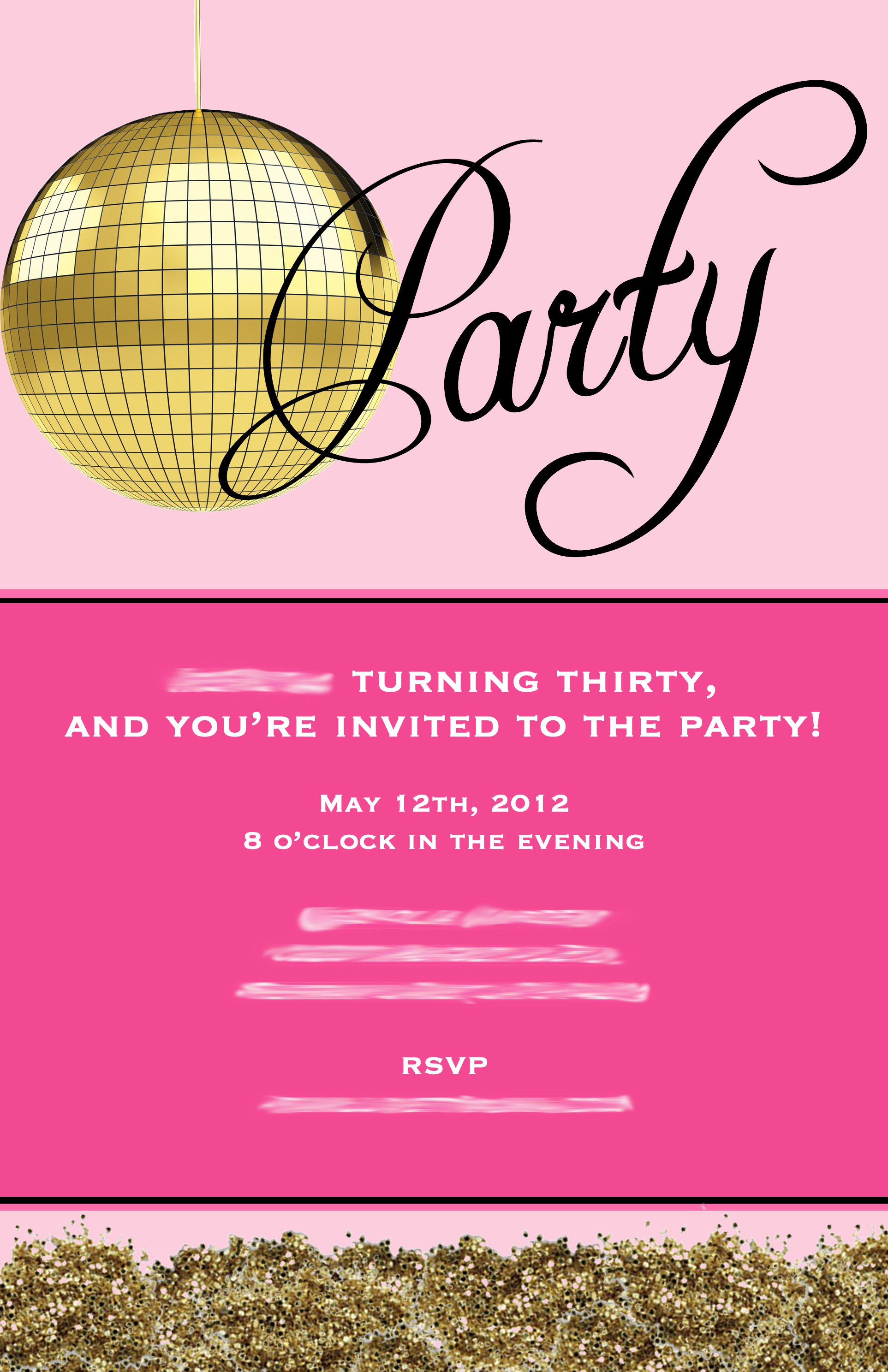 Surprise 30th Birthday Invitations For Her