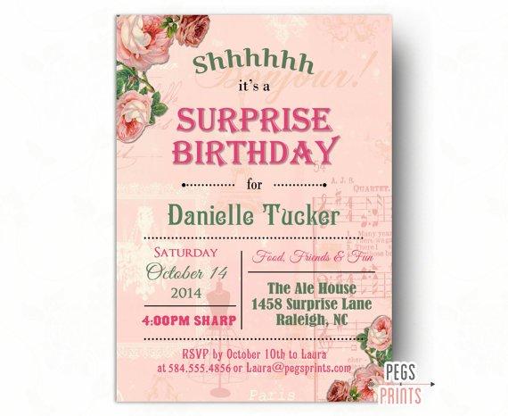 Surprise 60th Birthday Invitations Printable