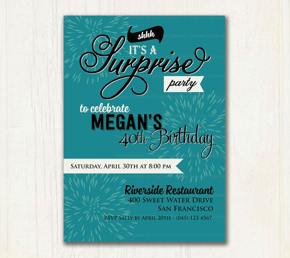Surprise 65th Birthday Invitation Wording