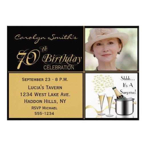 Surprise 70th Birthday Invitations Templates